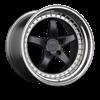XXR Wheels - 565 Super Star Graphite with Platinum Lip