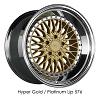 XXR Wheels - 576 SLIDER Gold Platinum Lip