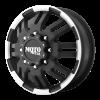 Moto Metal - MO963 DUALLY Matte Black Machined - Front MO963
