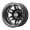 XD SERIES BY KMC WHEELS - MACHETE DUALLY Satin Black With Reinforcing Ring