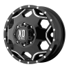 XD SERIES BY KMC WHEELS - CRUX Gloss Black With Milled Accents